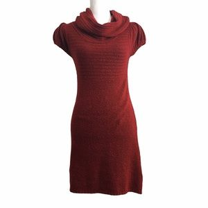 Sweater Project red cowl neck sweater dress. Small